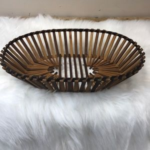 Other - Oval Wooden Basket